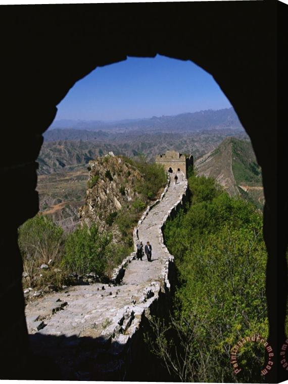 Raymond Gehman A View Through an Arched Window of The Great Wall Stretched Canvas Print / Canvas Art