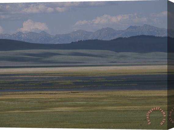 Raymond Gehman Scenic View of Red Rocks National Wildlife Refuge Montana Stretched Canvas Print / Canvas Art