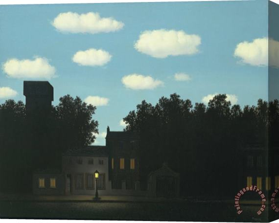 rene magritte Empire of Light II 1950 Stretched Canvas Print / Canvas Art