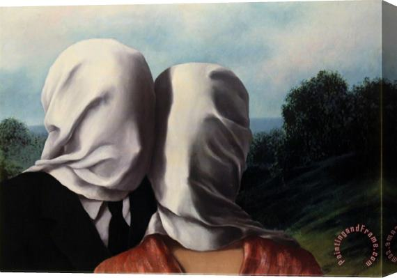 rene magritte Les Amants Lovers Stretched Canvas Print / Canvas Art