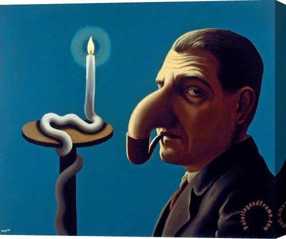 rene magritte Philosopher S Lamp 1936 Stretched Canvas Print / Canvas Art