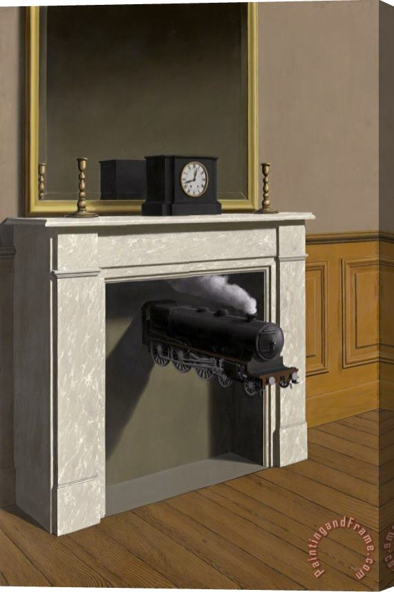 rene magritte Time Transfixed 1938 Stretched Canvas Print / Canvas Art
