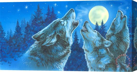Richard De Wolfe Moon Song Stretched Canvas Print / Canvas Art