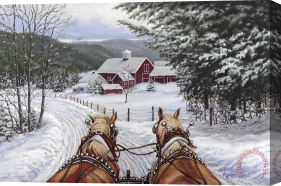Richard De Wolfe Sleigh Bells Stretched Canvas Print / Canvas Art