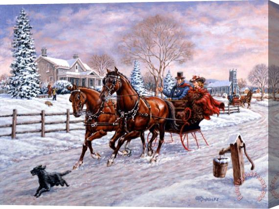 Richard De Wolfe Sleigh Ride Stretched Canvas Print / Canvas Art