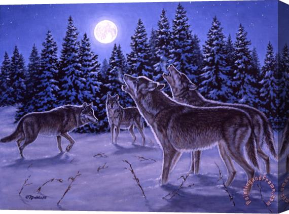 Richard De Wolfe The Howling Stretched Canvas Print / Canvas Art