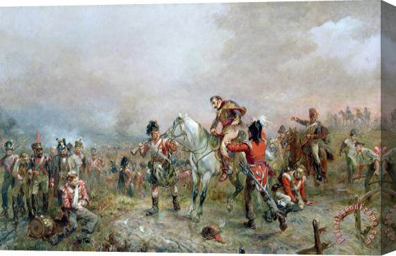 Robert Alexander Hillingford The Field at Waterloo Stretched Canvas Print / Canvas Art