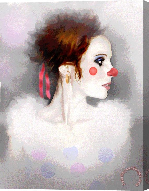 Robert Foster Lady Clown Stretched Canvas Print / Canvas Art