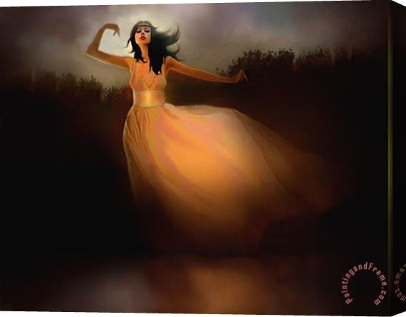 Robert Foster Lake Dancer Stretched Canvas Painting / Canvas Art