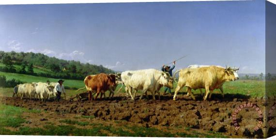 Rosa Bonheur Ploughing in Nivernais Stretched Canvas Print / Canvas Art