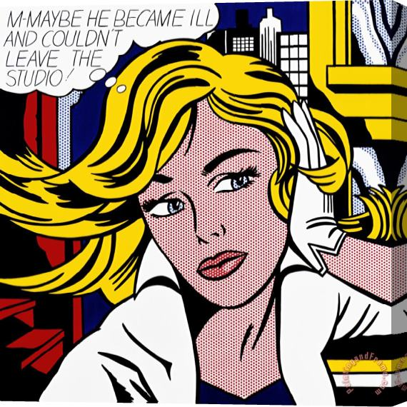 Roy Lichtenstein M Maybe C 1965 Stretched Canvas Print / Canvas Art