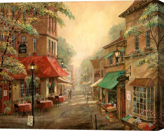 Ruane Manning Charlie S Cafe Stretched Canvas Painting / Canvas Art