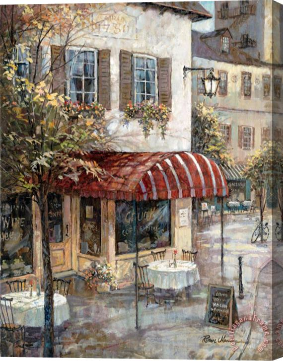 Ruane Manning Coffee House Ambiance Stretched Canvas Print / Canvas Art