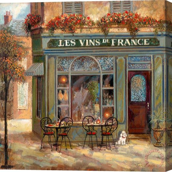 Ruane Manning Wine Shop Stretched Canvas Print / Canvas Art
