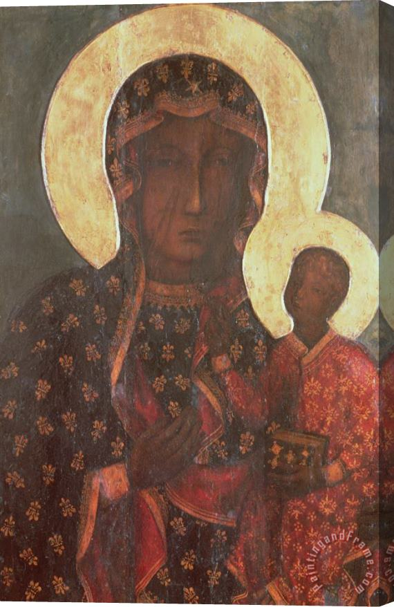 Russian School The Black Madonna of Jasna Gora Stretched Canvas Print / Canvas Art