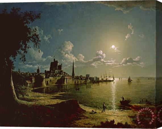 Sebastian Pether Moonlight Scene Stretched Canvas Print / Canvas Art