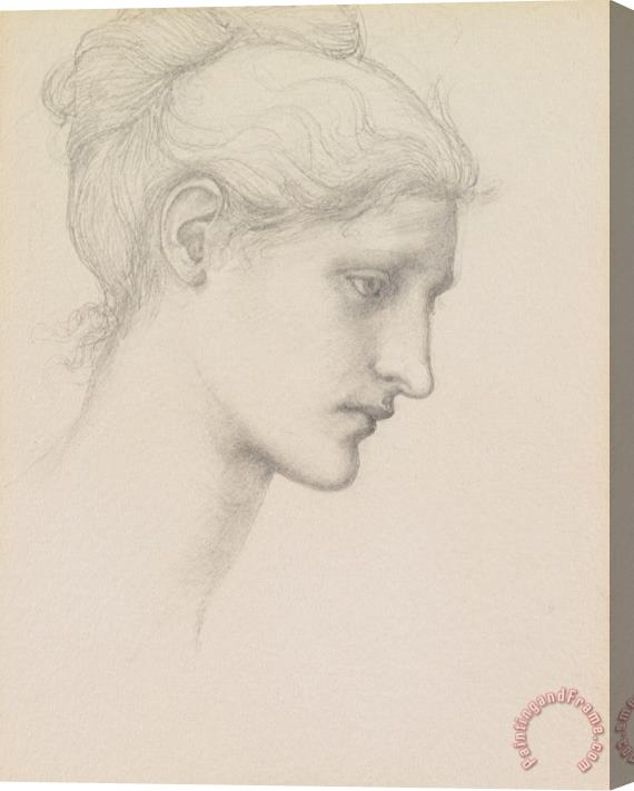 Sir Edward Burne-Jones Study for Laus Veneria Stretched Canvas Print / Canvas Art