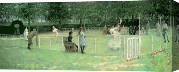 Sir John Lavery The Tennis Party Stretched Canvas Print / Canvas Art