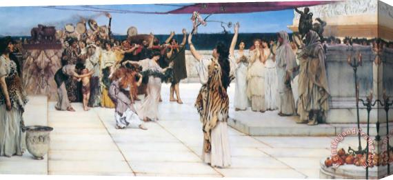 Sir Lawrence Alma-Tadema A Dedication to Bacchus Stretched Canvas Print / Canvas Art