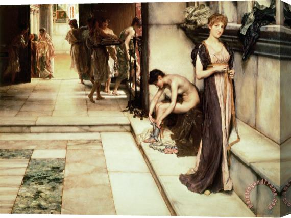 Sir Lawrence Alma-Tadema An Apodyterium Stretched Canvas Print / Canvas Art