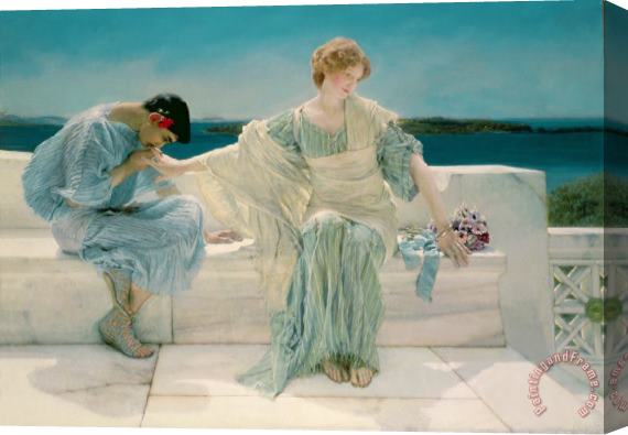 Sir Lawrence Alma-Tadema Ask me no more Stretched Canvas Print / Canvas Art