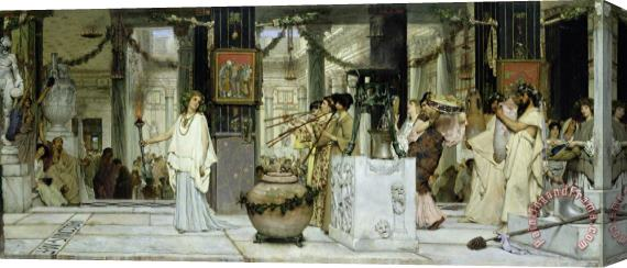 Sir Lawrence Alma-Tadema The Vintage Festival in Ancient Rome Stretched Canvas Painting / Canvas Art