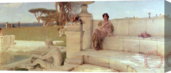 Sir Lawrence Alma-Tadema The Voice of Spring Stretched Canvas Print / Canvas Art