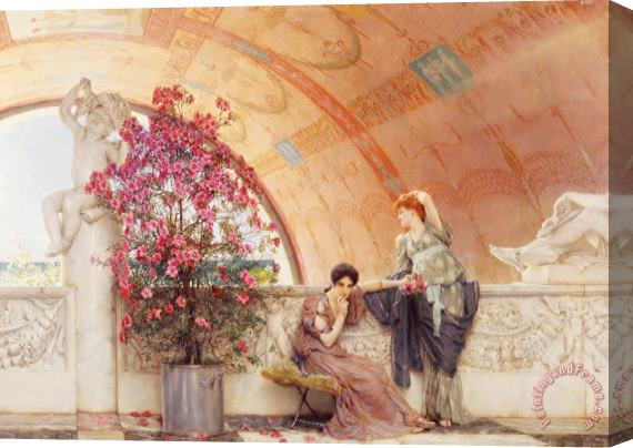 Sir Lawrence Alma-Tadema Unconscious Rivals Stretched Canvas Print / Canvas Art