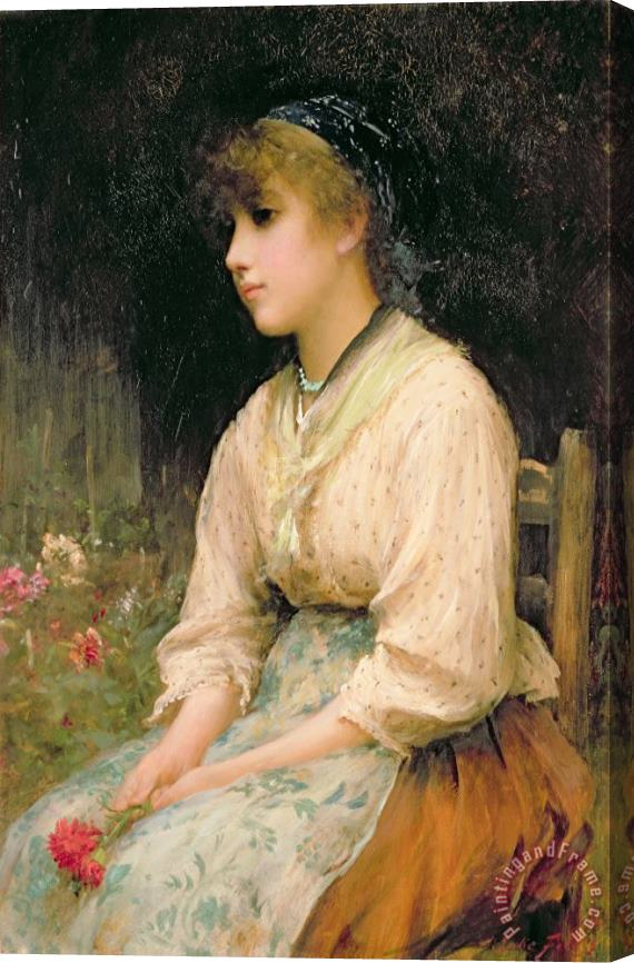 Sir Samuel Luke Fildes A Venetian Flower Girl Stretched Canvas Print / Canvas Art