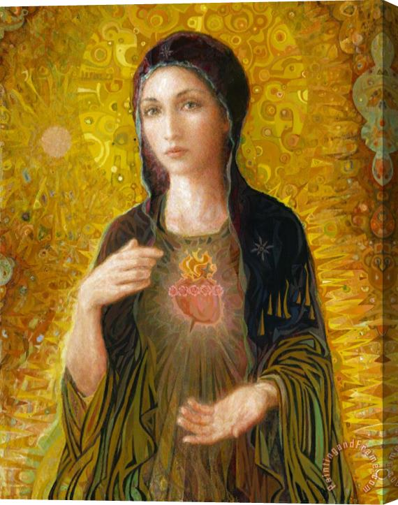 Smith Catholic Art Immaculate Heart of Mary Stretched Canvas Print / Canvas Art