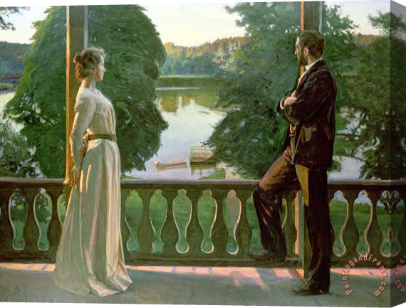 Sven Richard Bergh Nordic Summer Evening Stretched Canvas Print / Canvas Art