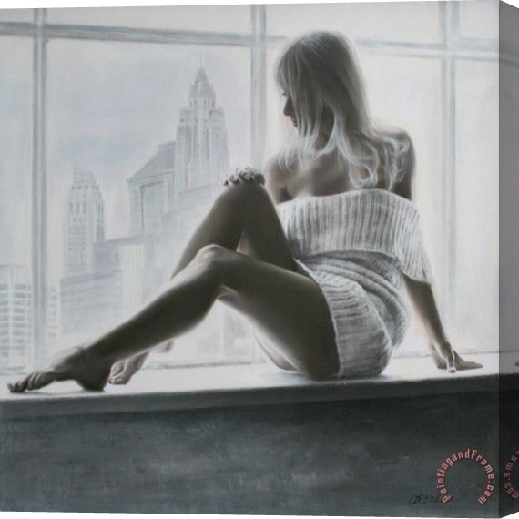 Talantbek Chekirov Drawings of Beautiful Girls Stretched Canvas Painting / Canvas Art