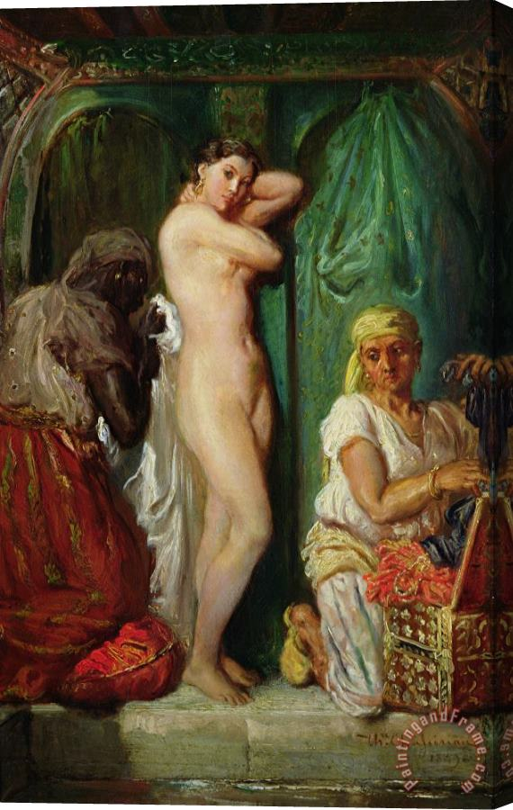 Theodore Chasseriau The Bath in the Harem Stretched Canvas Print / Canvas Art