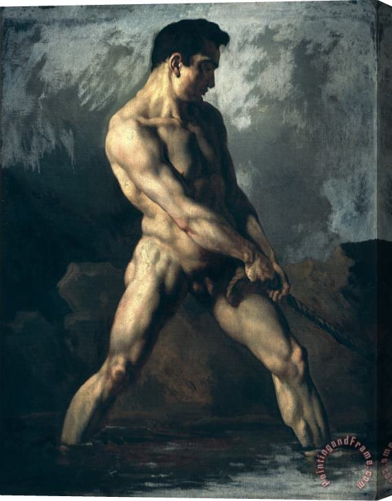 Theodore Gericault Study of a Male Nude Stretched Canvas Print / Canvas Art
