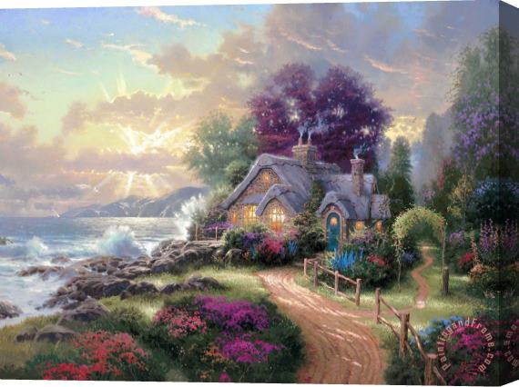 Thomas Kinkade A New Day Dawning Stretched Canvas Print / Canvas Art