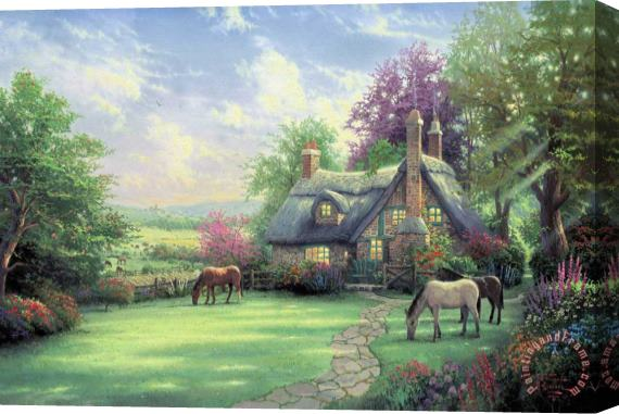 Thomas Kinkade A Perfect Summer Day Stretched Canvas Print / Canvas Art