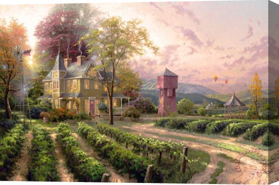 Thomas Kinkade Abundant Harvest Stretched Canvas Print / Canvas Art