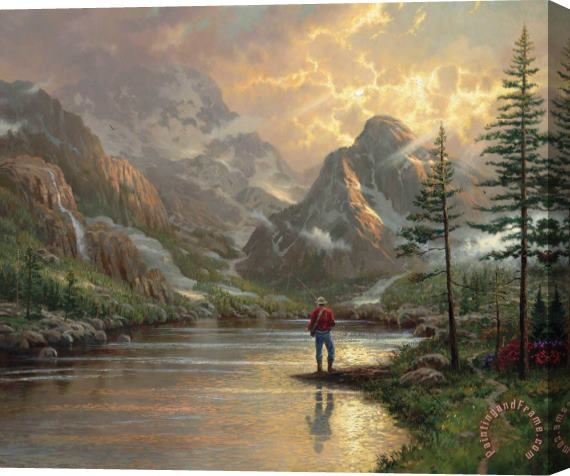 Thomas Kinkade Almost Heaven Stretched Canvas Print / Canvas Art