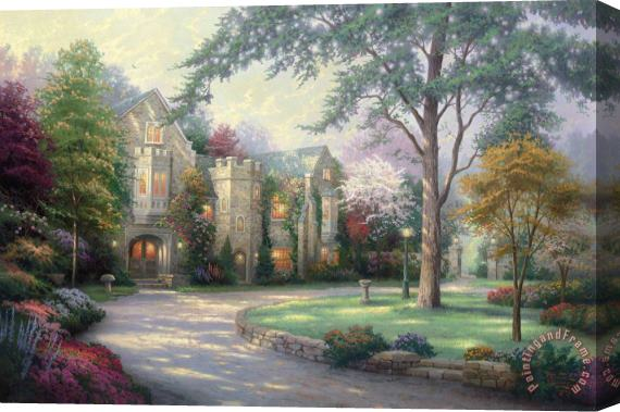 Thomas Kinkade Beyond Summer Gate Stretched Canvas Print / Canvas Art