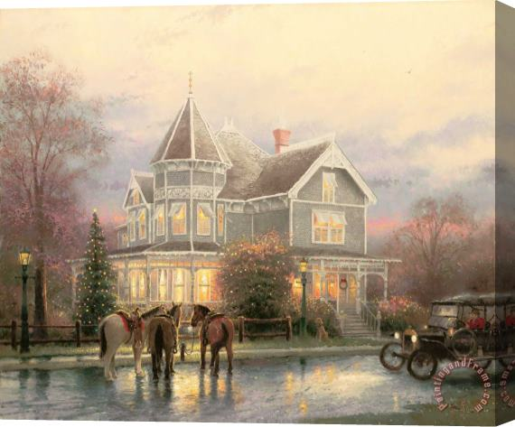 Thomas Kinkade Christmas Memories Stretched Canvas Print / Canvas Art