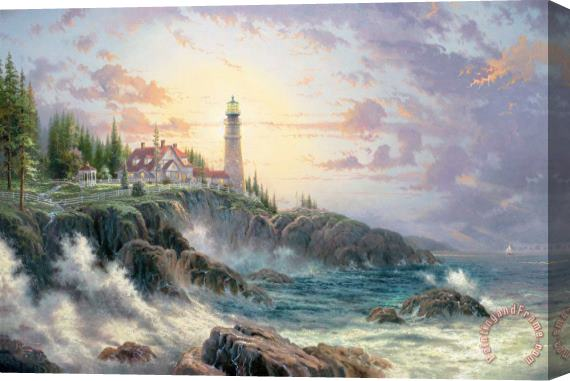 Thomas Kinkade Clearing Storms Stretched Canvas Print / Canvas Art