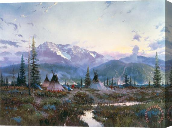 Thomas Kinkade Days of Peace Stretched Canvas Print / Canvas Art