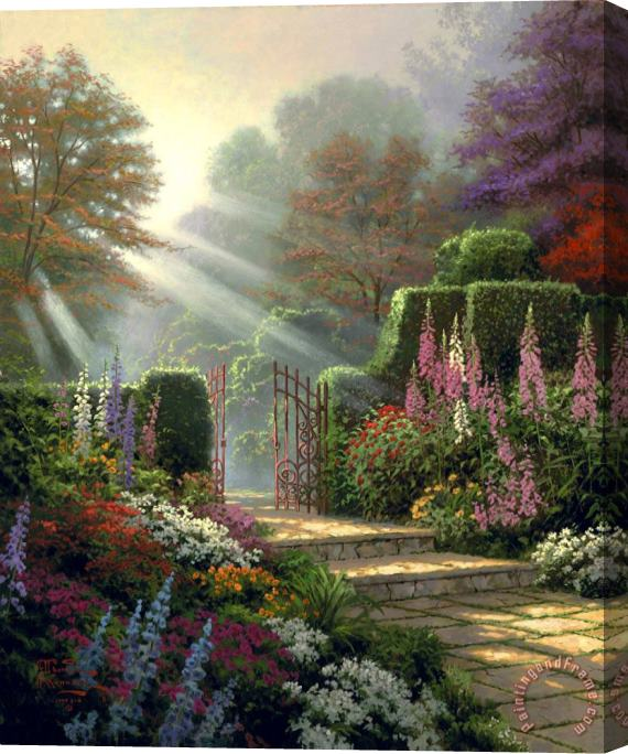 Thomas Kinkade Garden of Grace Stretched Canvas Print / Canvas Art