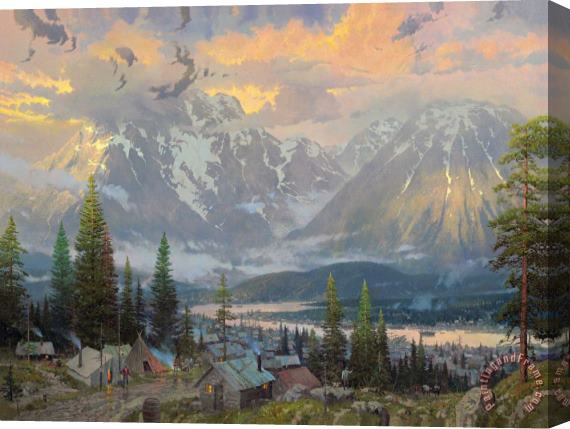 Thomas Kinkade Great North Stretched Canvas Print / Canvas Art