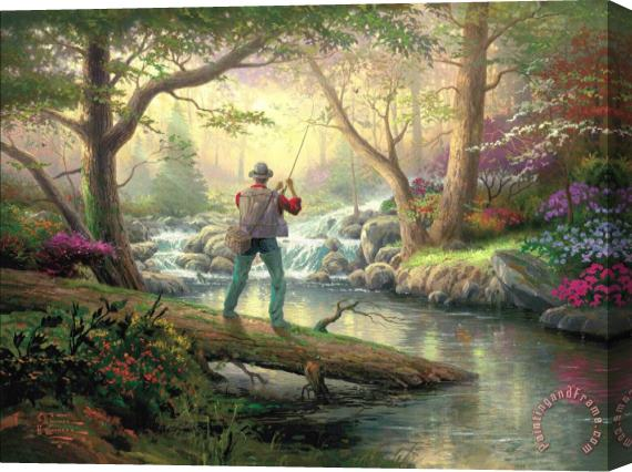 Thomas Kinkade It Doesn't Get Much Better Stretched Canvas Print / Canvas Art