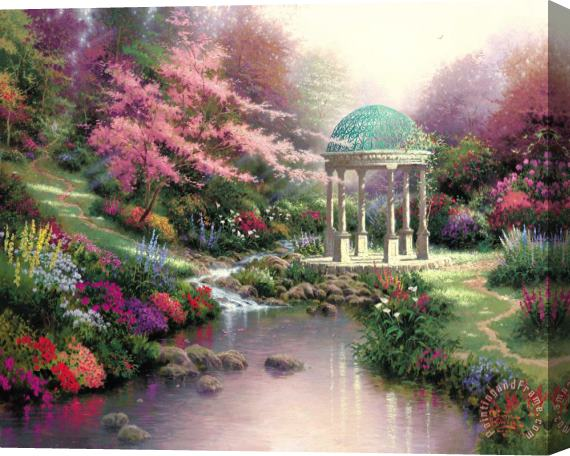 Thomas Kinkade Pools of Serenity Stretched Canvas Print / Canvas Art