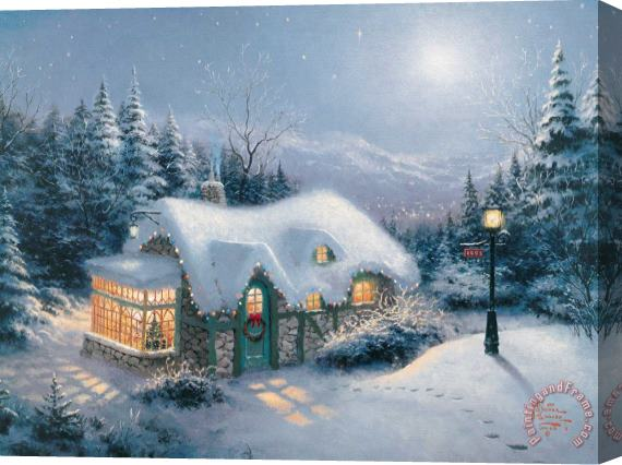 Thomas Kinkade Silent Night Stretched Canvas Print / Canvas Art