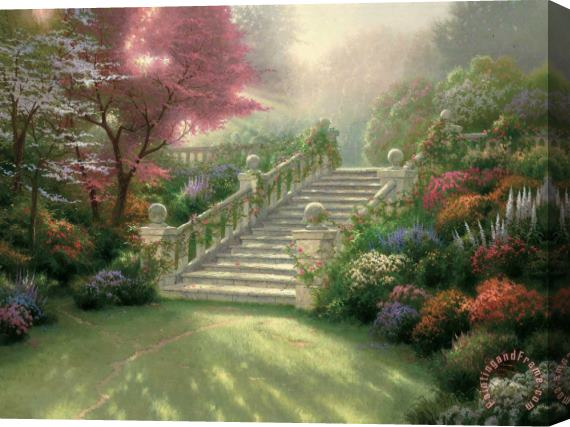 Thomas Kinkade Stairway to Paradise Stretched Canvas Print / Canvas Art