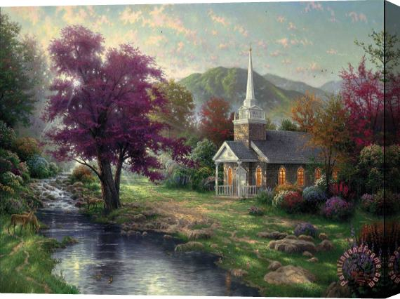 Thomas Kinkade Streams of Living Water Stretched Canvas Print / Canvas Art