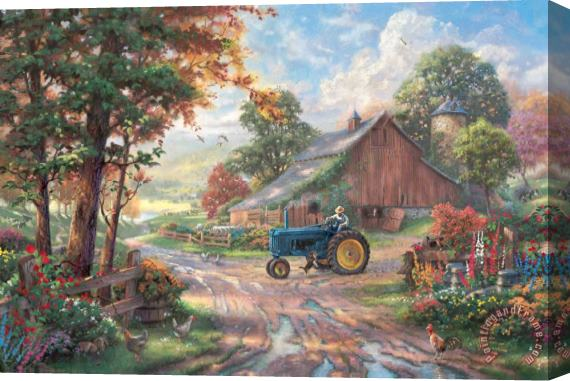 Thomas Kinkade Summer's Heritage Stretched Canvas Print / Canvas Art